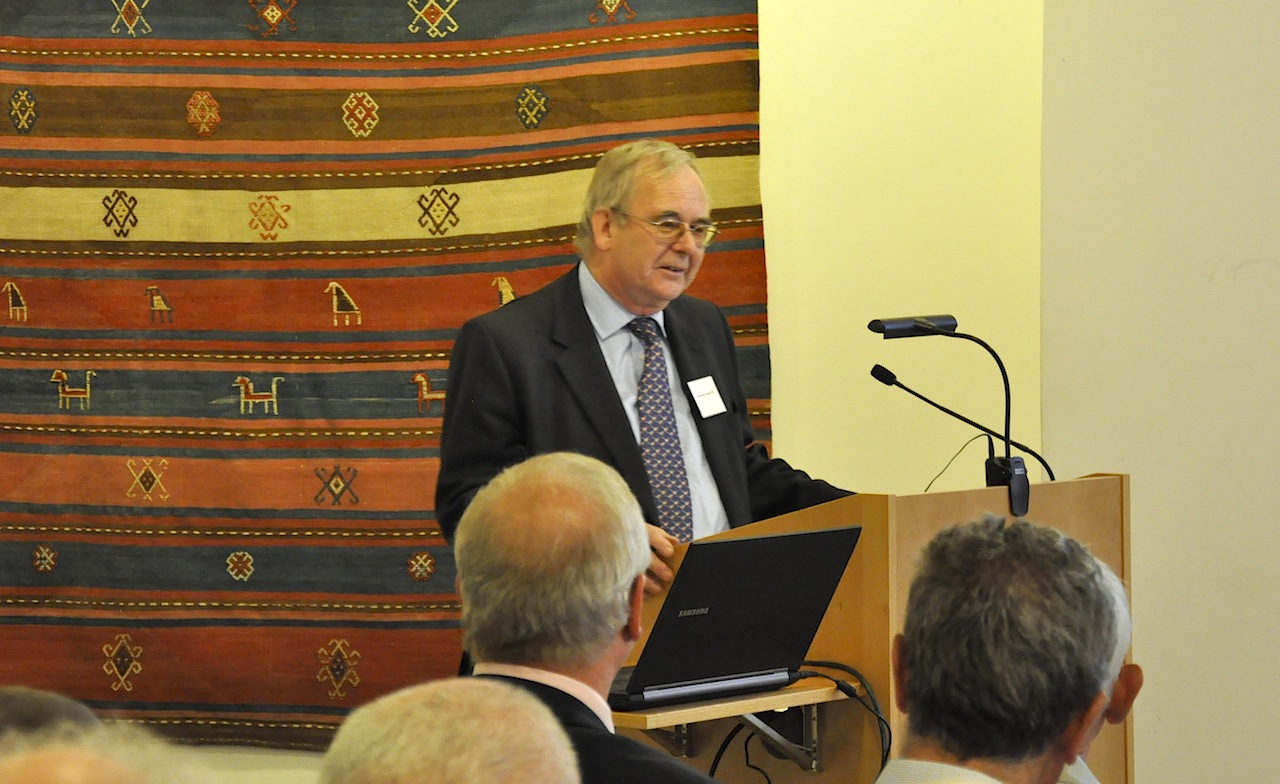 Nicholas Finney OBE addresses audience