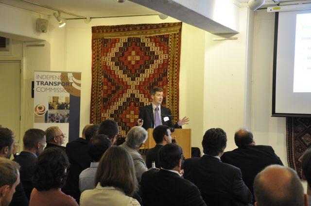 Dr Tom Cherrett addresses delegates